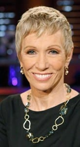 Shark Tank panelist Barbara Corcoran wears an ali & bird necklace.