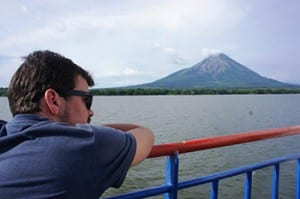 A Peace Corps posting in Costa Rica has provided Jonathan Lane with an opportunity to travel in Central and South America. Here he is on a visit to Lake Nicaragua's Ometepe Island.