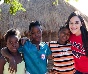 "SMU sophomore Melanie Enriquez says the volunteer experience in Zambia made her realize ""learning should not be limited to the classroom."" Photo by Katie Bernet."