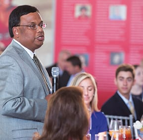 "Faculty Senate President Santanu Roy says thanks for scholarship supporting high-achieving students that ""enhance the education of all."""