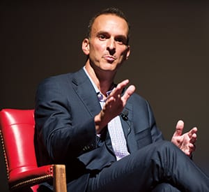 Travis Tygart talked about the U.S. Anti-Doping Agency's investigation of cyclist Lance Armstrong at a lecture on values and ethics at SMU.