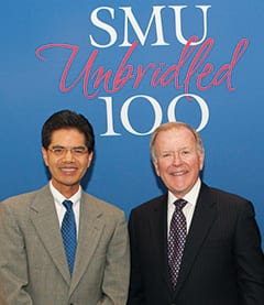 Centennial Distinguished Chair in Cyber Security Fred Chang (left) and benefactor Bobby B. Lyle.