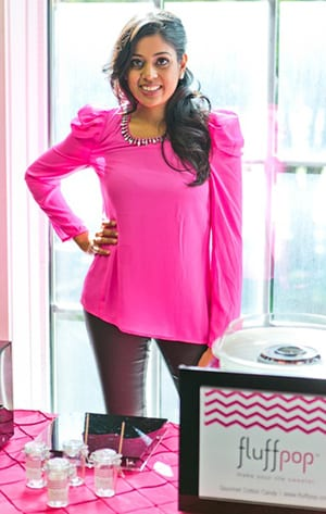 Yasmeen Tadia '04 founded Fluffpop gourmet .cotton candy