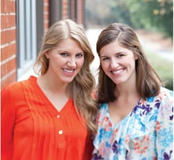Annie Griffin (right) and her sister, Robin Gerber.  Photo courtesy of Southern Lady Magazine/Hoffman Media