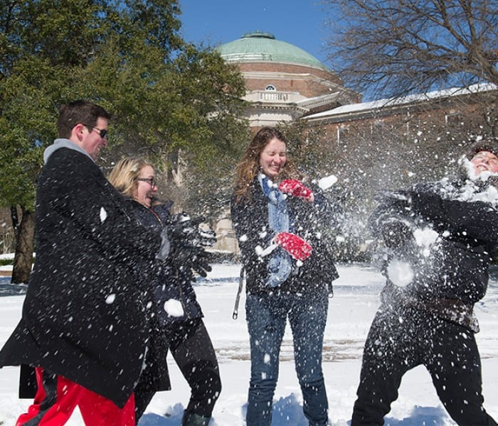 #SMUSnowDay! Can't-Miss Campus Scenes, March 5, 2015