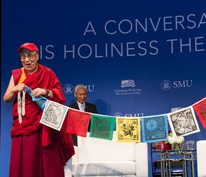 Video: The Dalai Lama Visits SMU