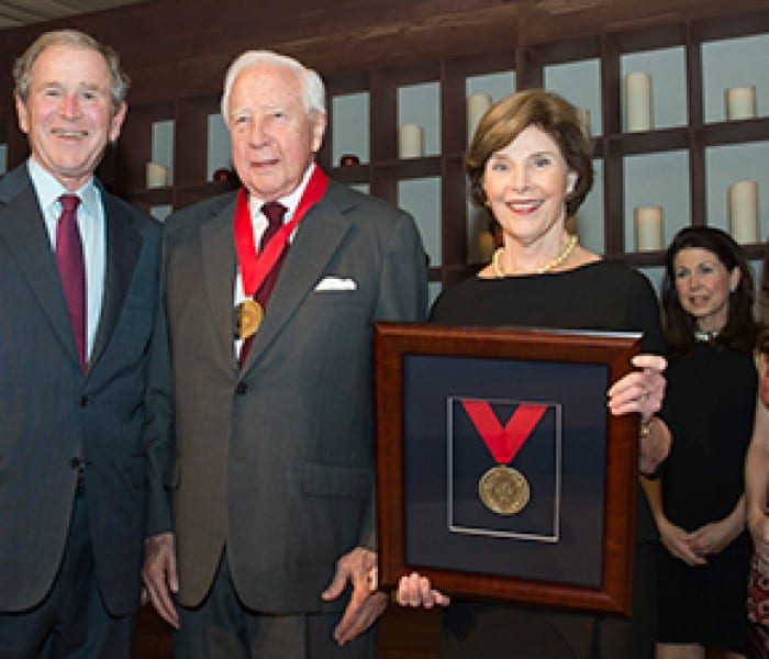 Historian David McCullough Receives SMU Tower Center Medal Of Freedom