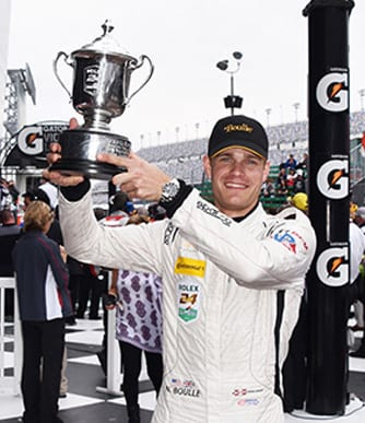 Nick Boulle placed second in the Prototype Challenge Class in the Rolex 24 Hours of Daytona. Photo by Taylor Johnson.