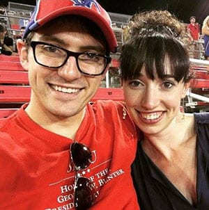 Alex '10 and Marielle McGregor '10 at their five-year SMU reunion in 2015.