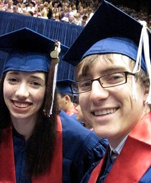 The couple at graduation in 2010.