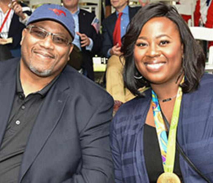 Olympic Medalists Michael Carter '83 And Daughter Michelle Carter Served As Parade Grand Marshals