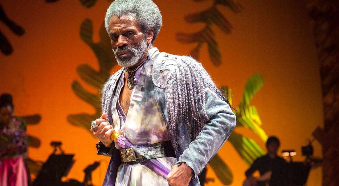 Broadway actor André De Shields in The Tempest.