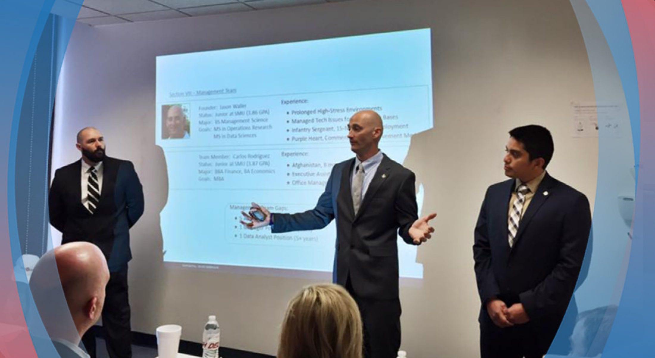 """Iraq war veteran Jason Waller '18 launches """"veterans first"""" company."""