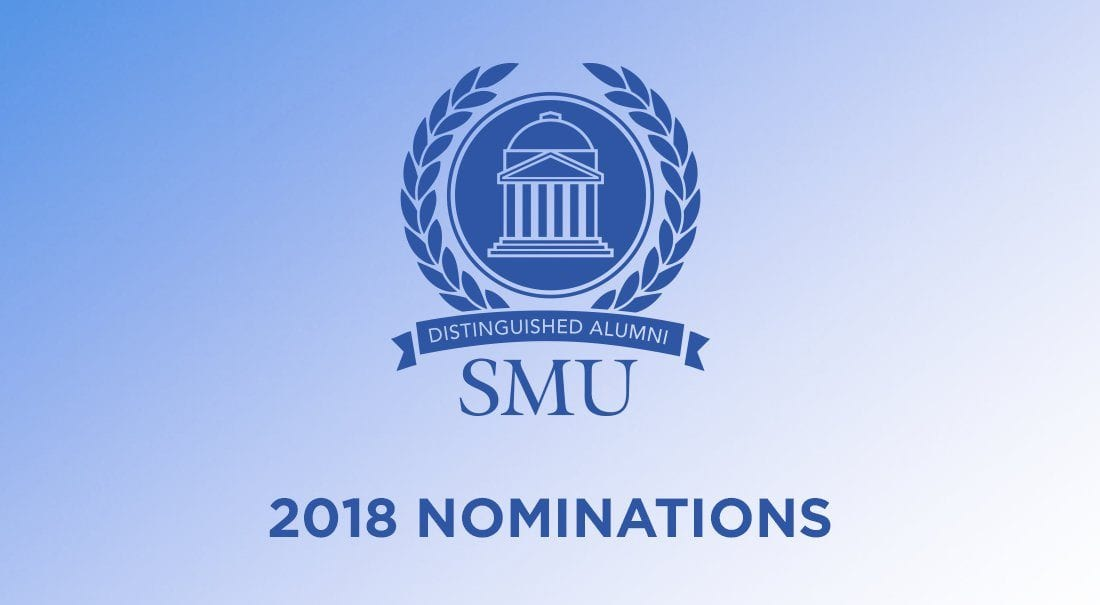 Nominations are now being accepted for the 2018 Distinguished Alumni and Emerging Leader awards.