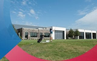 New Payne Stewart SMU Golf Training Center at Trinity Forest Golf Club.