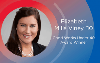 SMU alumna Elizabeth Viney '10 won the Good Works under 40 Award.