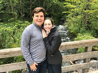 Eleanor Rosler ('14, '15) and Richard Putnam ('14) became engaged on July 28, 2017.