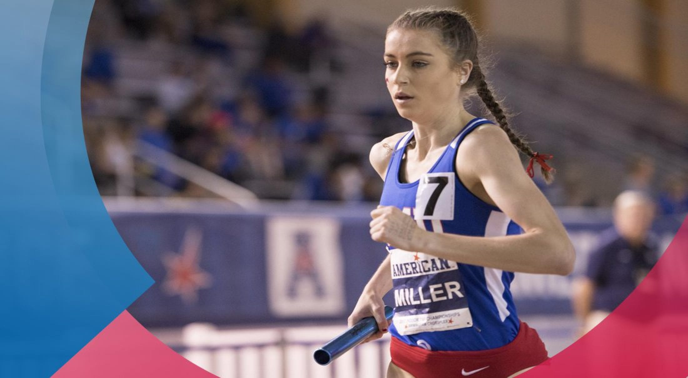 Hannah Miller set a personal best and broke an SMU record in the 3000m on January 20.