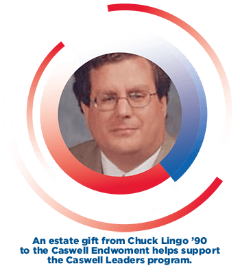 An estate gift from Chuck Lingo helps support the Caswell Leaders program.