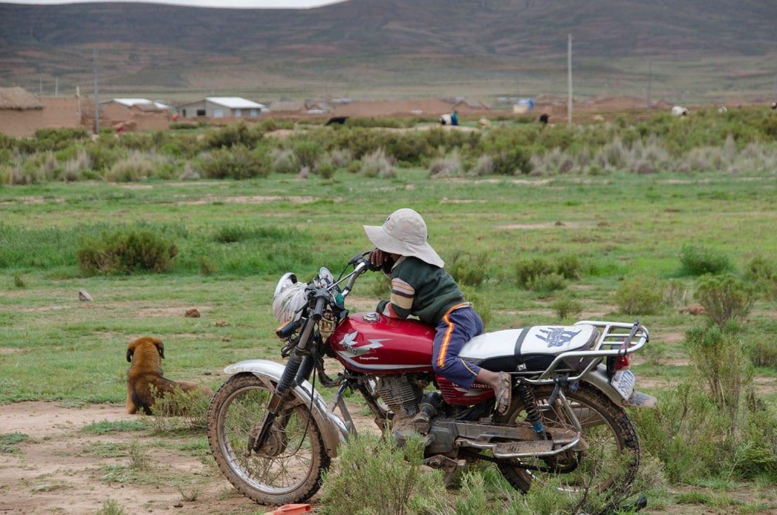 Resting in Bolivia.