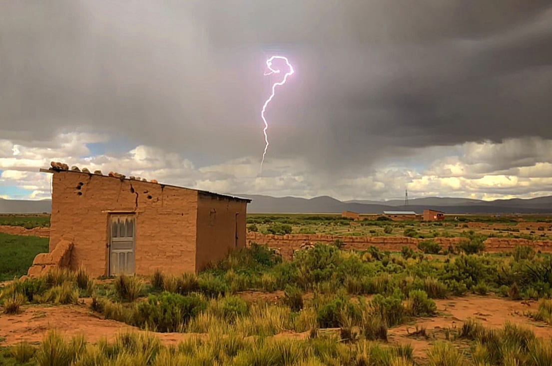 A dramatic lightning shot in Bolivia.
