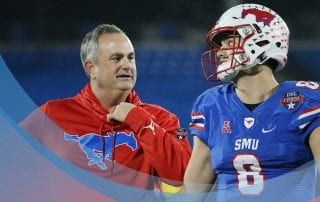 SMU Head Football Coach Sonny Dykes.