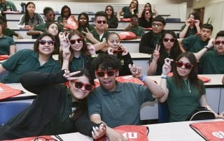 Rusk Middle School eighth-graders were treated by SMU to a campus visit like no other.