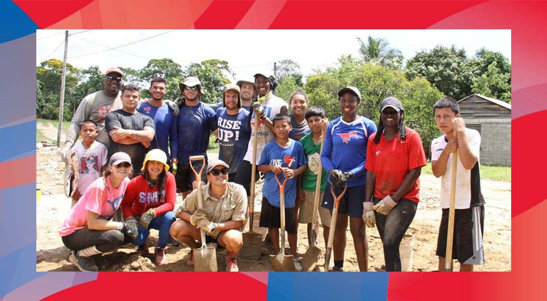 Student-athletes and staff traveled to Belize as Courts for Kids volunteers.