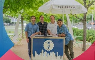 SMU alumni open ice cream shop across from campus.