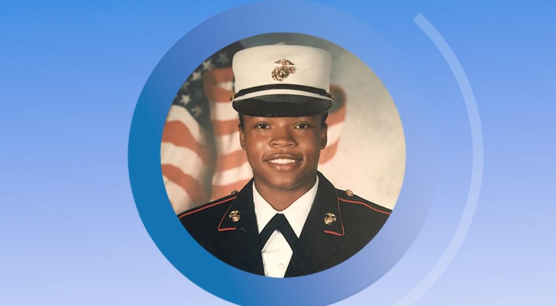 Marine vet and MFA student Yvonne Johnston