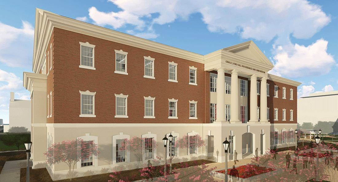 Conceptual rendering of the new Gerald J. Ford Hall for Research and Innovation