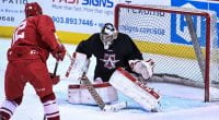 SMU junior Thomas Hodges is the Dallas Star's emergency goalie.