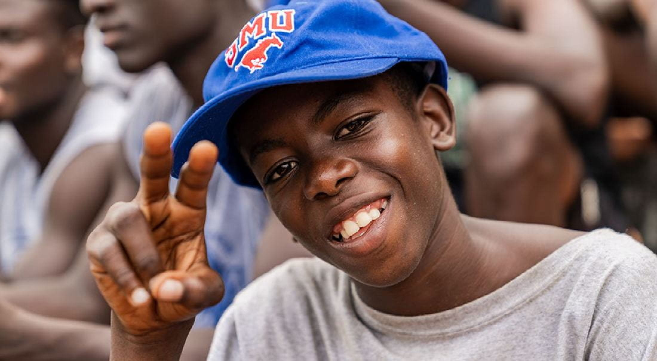 SMU football staff conducted a youth camp in Lagos, Nigeria.