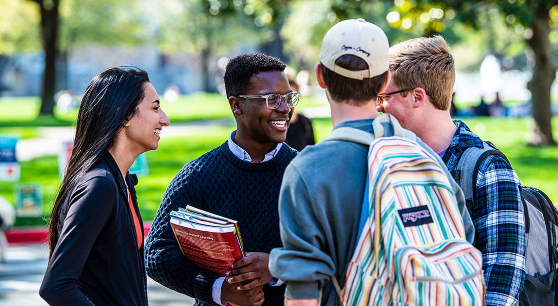 SMU Student Body President Darian Taylor and students.