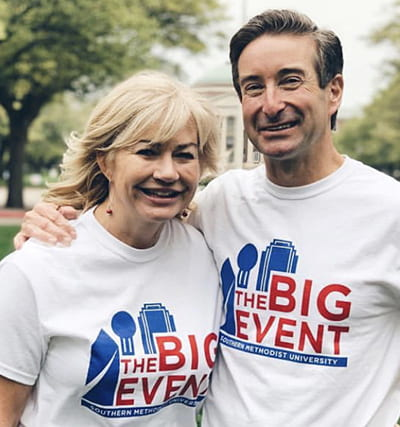 Ashlee and Chris Kleinert at SMU's The Big Event in 2019.