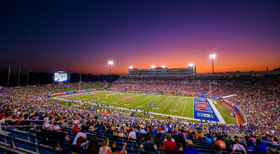 SMU's Gerald J. Ford Stadium turns 20 this year.