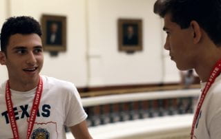 Sophomore Ben Feinstein in Boys State.