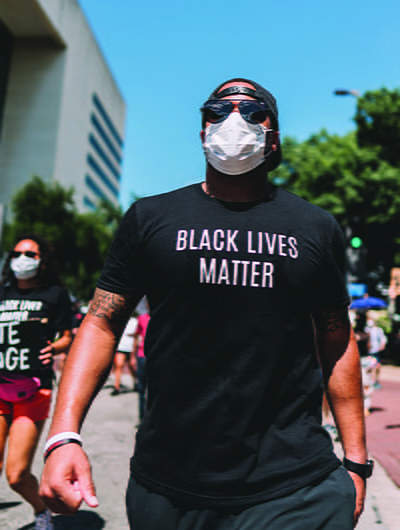 SMU students joined Black Lives Matter protests for racial justice in Dallas.