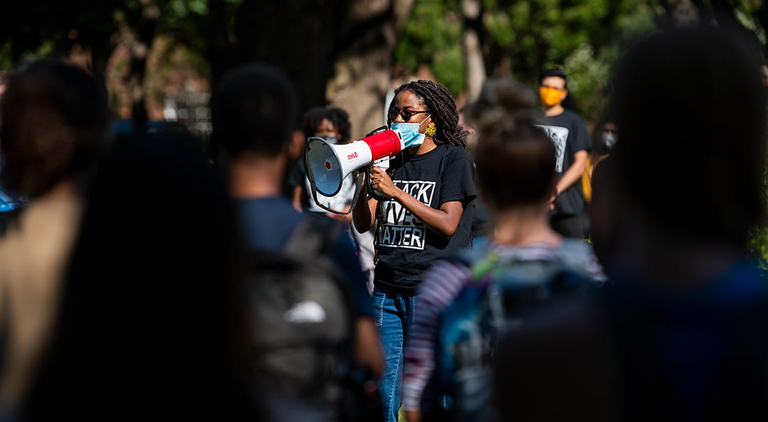 SMU students and community members turn out for Black Lives Matter rally on campus.