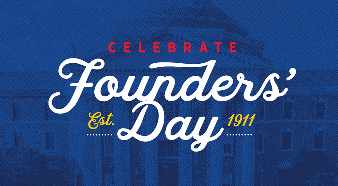 Enjoy Founders' Day Weekend April 16–17