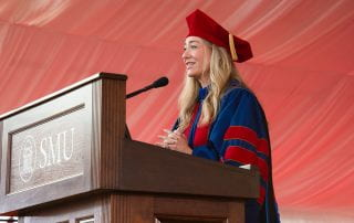 Whitney Wolfe Herd '11 delivered the May Commencement address.