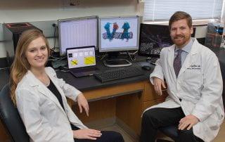 Researchers James McCormick '17 and Lauren Ammerman '21