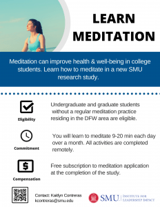 SMU Meditation study flyer