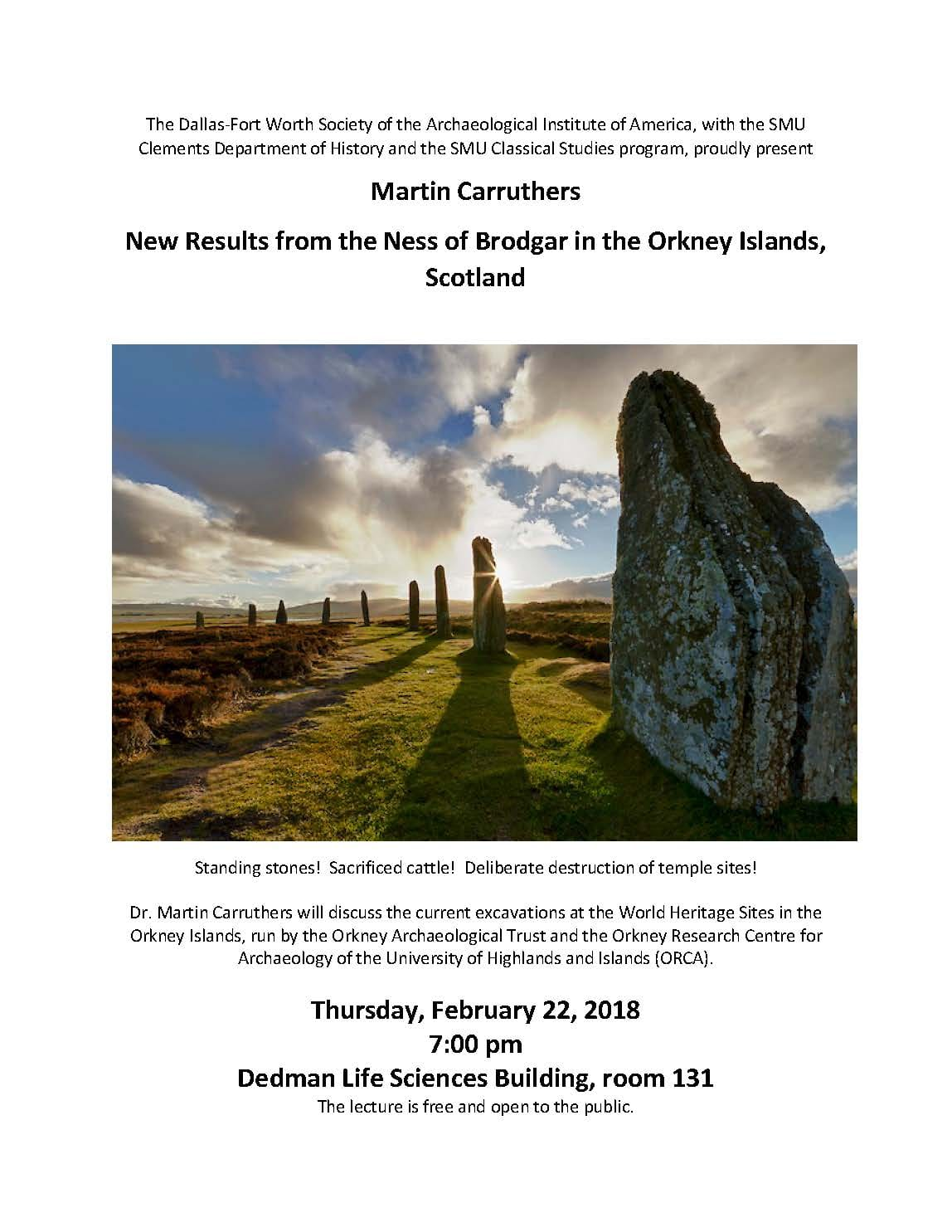 Event Feb 22 Before Stonehenge New Results Form The Ness Of
