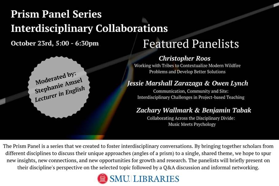 Event: October 23, Interdisciplinary research and