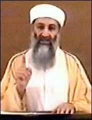 Still from the Osama bin Laden Video, October 2004
