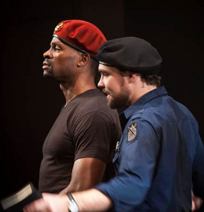 SMU theatre students Beethovan Oden and David Price in the 2011 Meadows Theatre production of 'Othello' directed by Michael Connolly, photo by Linda Blase