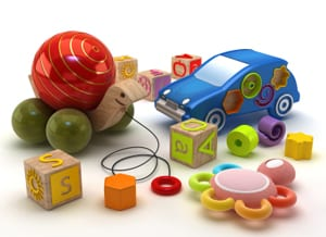 Stock photo of holiday toys