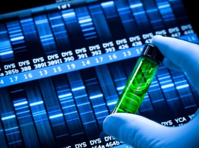 Stock photo of DNA mapping and genetic research in a laboratory
