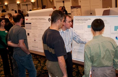 Graduate students present their research during SMU's 2011 Research Day